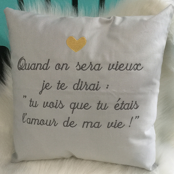 Coussin Ma vie