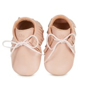 Chausson cuir Meximoo rose poudre