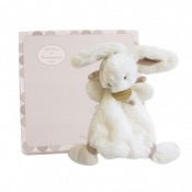 Doudou Lapin peluche taupe